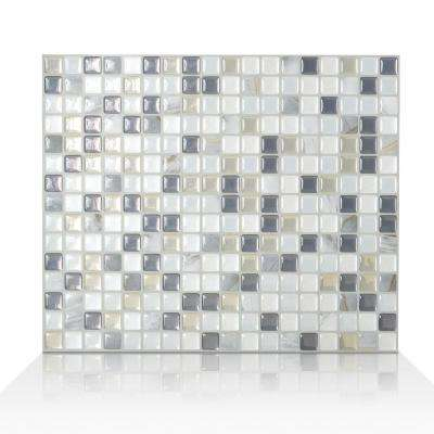 Minimo Noche 11.55 in. W x 9.64 in. H Peel and Stick Self-Adhesive Decorative Mosaic Wall Tile Backsplash (6-Pack)