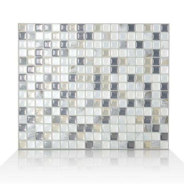 Smart Tiles Minimo Noche 11.55 in. W x 9.64 in. H Peel and Stick Self-Adhesive Decorative Mosaic Wall Tile Backsplash (6-Pack)