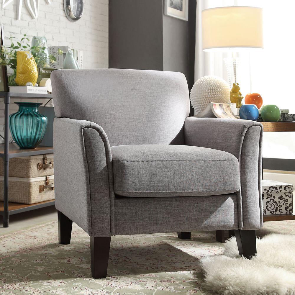 Durham Grey Linen Arm Chair