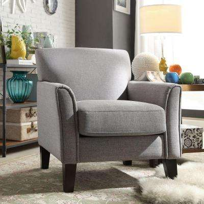 Durham Grey Linen Arm Chair