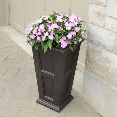 Fairfield Tall Espresso Polyethylene Planter
