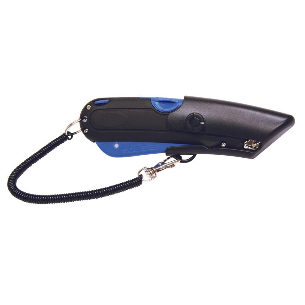 Cosco Blade Storage Utility Knife 3 x Blade Black, Blue