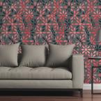 CGSignLab Geometric Flowers by Circle Art Group Removable Wallpaper Panel