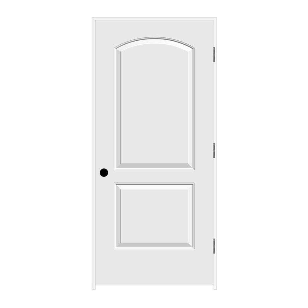 Jeld Wen 30 In X 78 In Cambridge Primed Right Hand Smooth Molded Composite Mdf Single Prehung