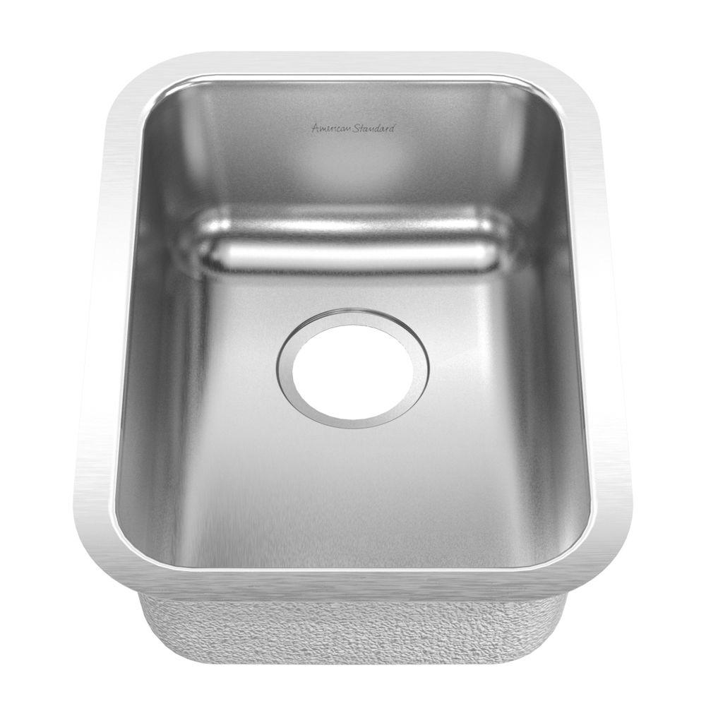 American Standard Prevoir Undermount Brushed Stainless Steel 13.75x18.75x7 0-Hole Single Bowl Kitchen Sink-DISCONTINUED