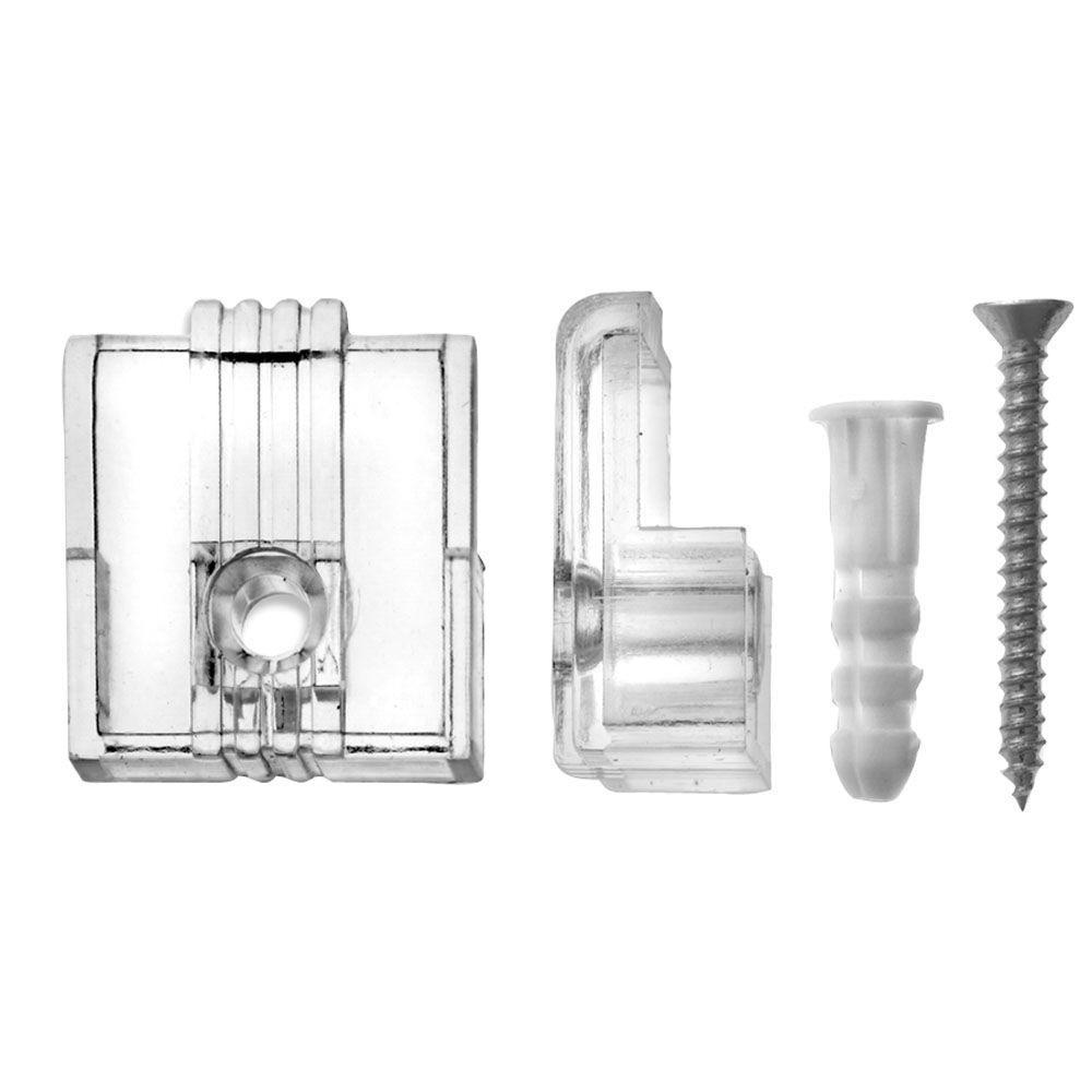 1/4 in. 20 lb. Adjustable Plastic Mirror Holders (4-Pack)
