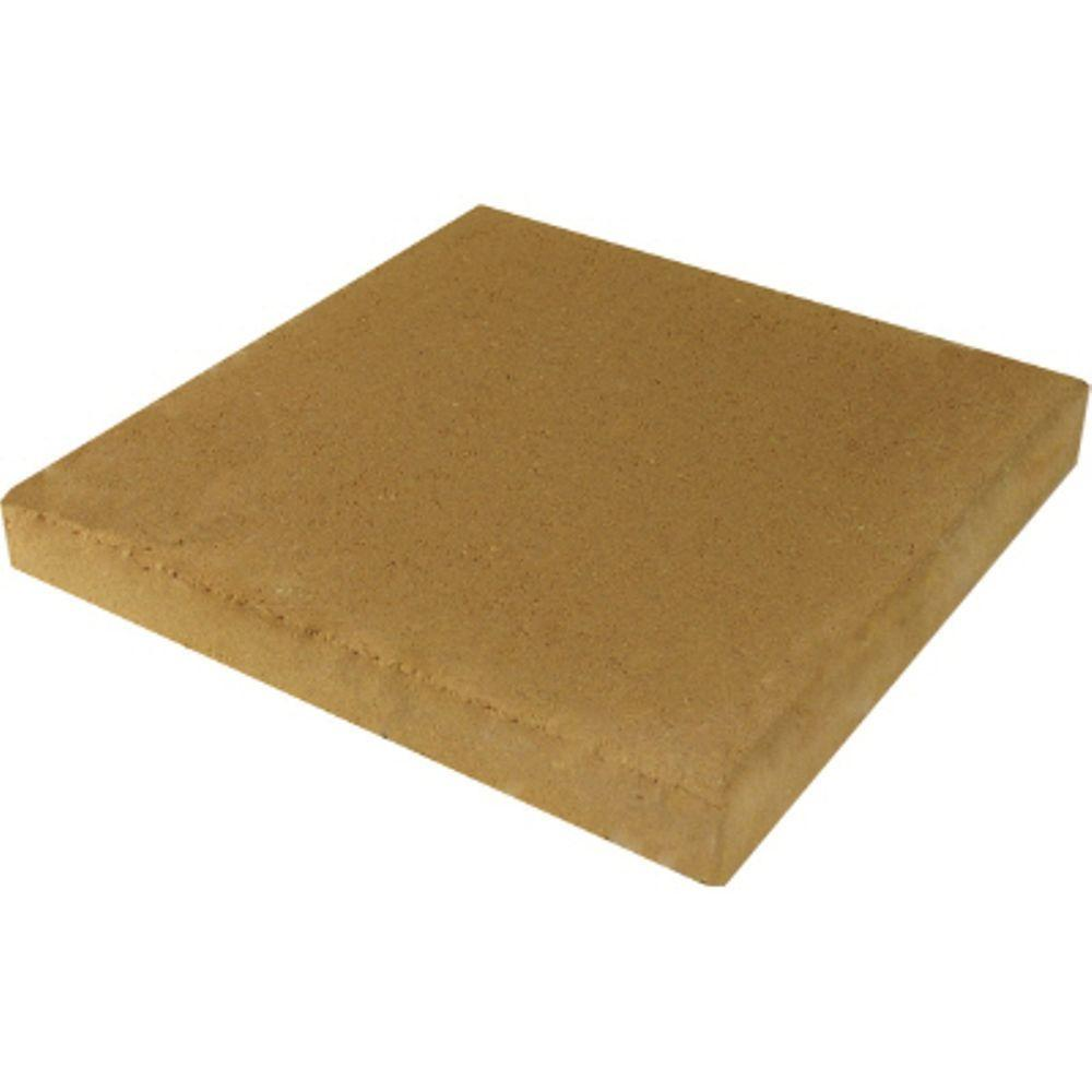 11.75 in. x 11.75 in. x 1.5 in. Tan Concrete Step