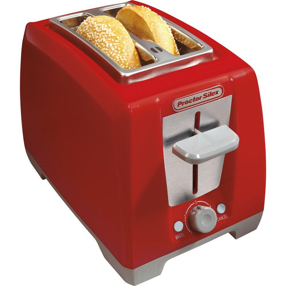 Proctor Silex 2-Slice Cool Touch Bagel Toaster in Red-DISCONTINUED