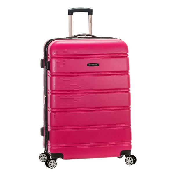 Melbourne 28 in. Magenta Expandable Hardside Dual Wheel Spinner Luggage