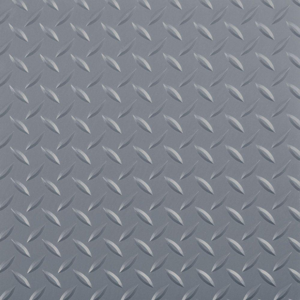 G-Floor Industrial Grade Polyvinyl 9 ft. x 44 ft. Diamond Tread Slate Grey Garage Floor Cover and Protector