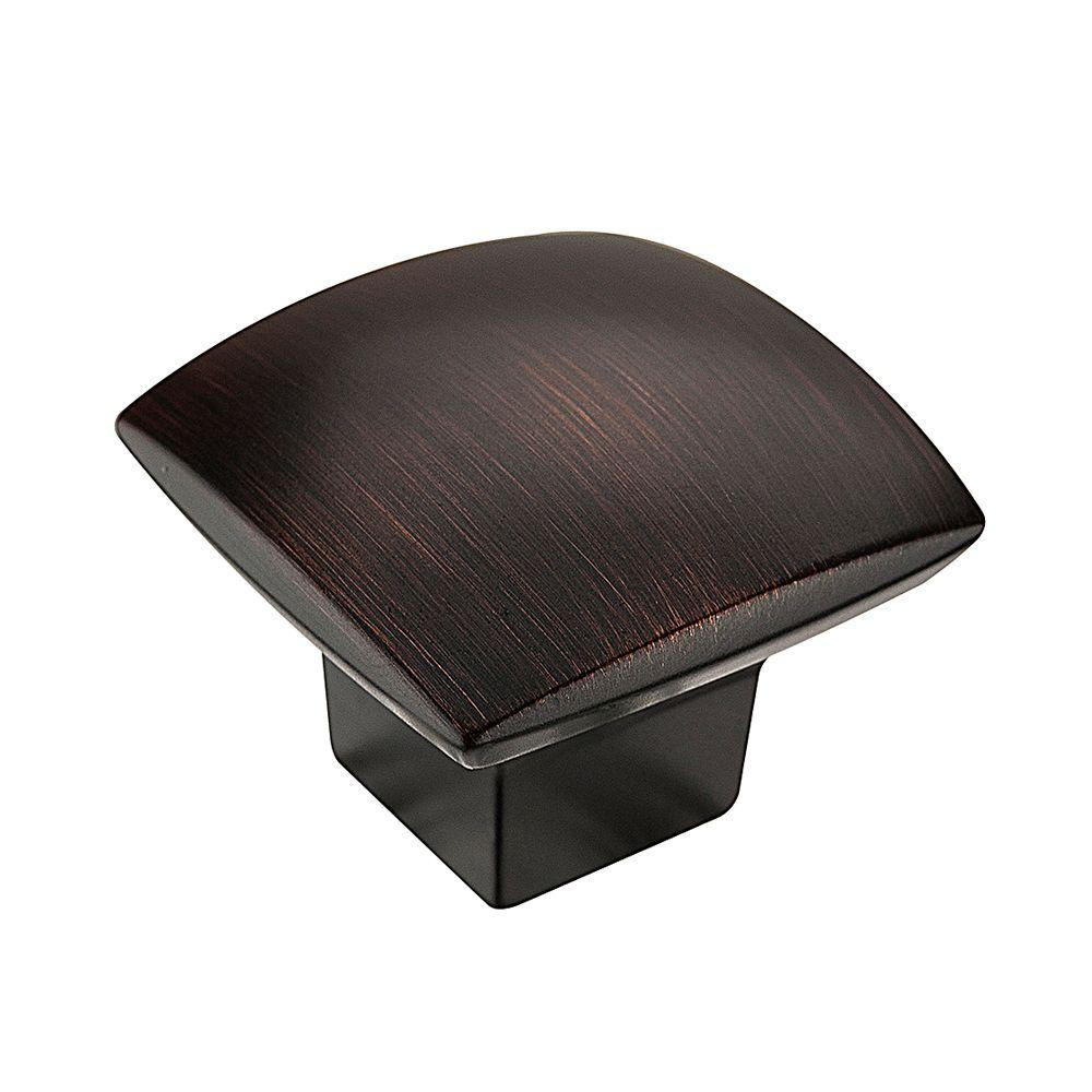 1-1/2 in. Oil-Rubbed Bronze Simple Soft Square Knob