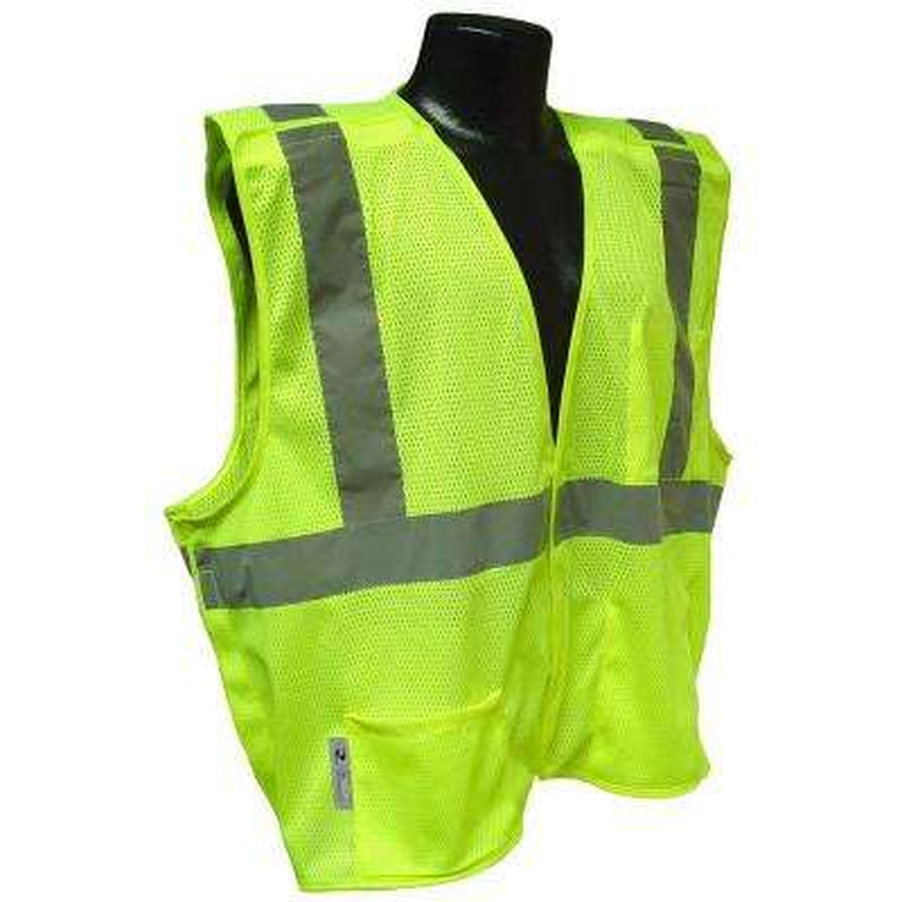 Cl 2 Green 4x Mesh Breakaway Safety Vest