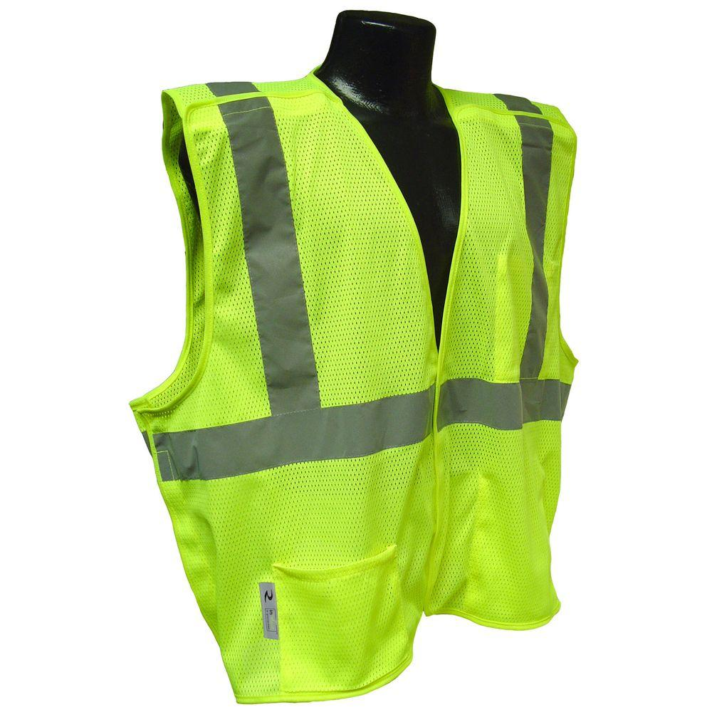 Cl 2 Green 5x Mesh Breakaway Safety Vest