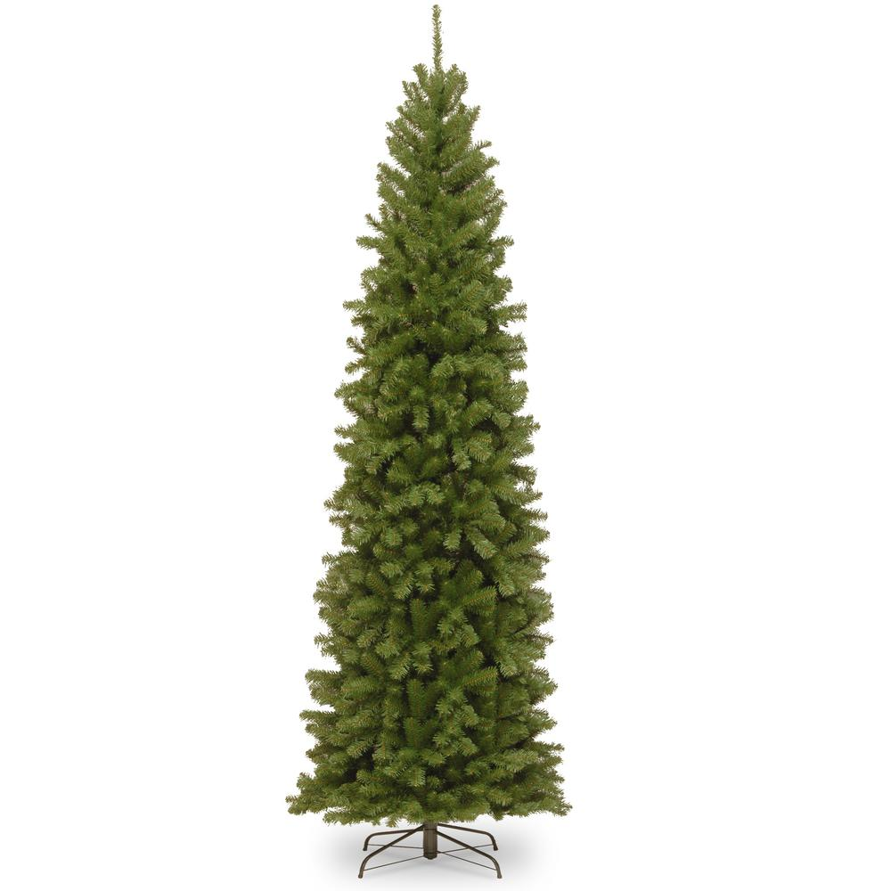 national tree company 10 ft north valley spruce pencil slim tree nrv7 505 100 the home depot. Black Bedroom Furniture Sets. Home Design Ideas