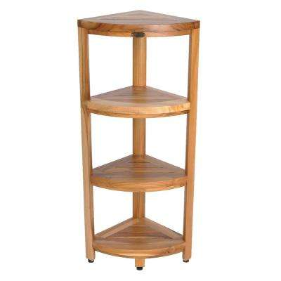 Teak - Bathroom Shelves - Bathroom Cabinets & Storage - The Home Depot