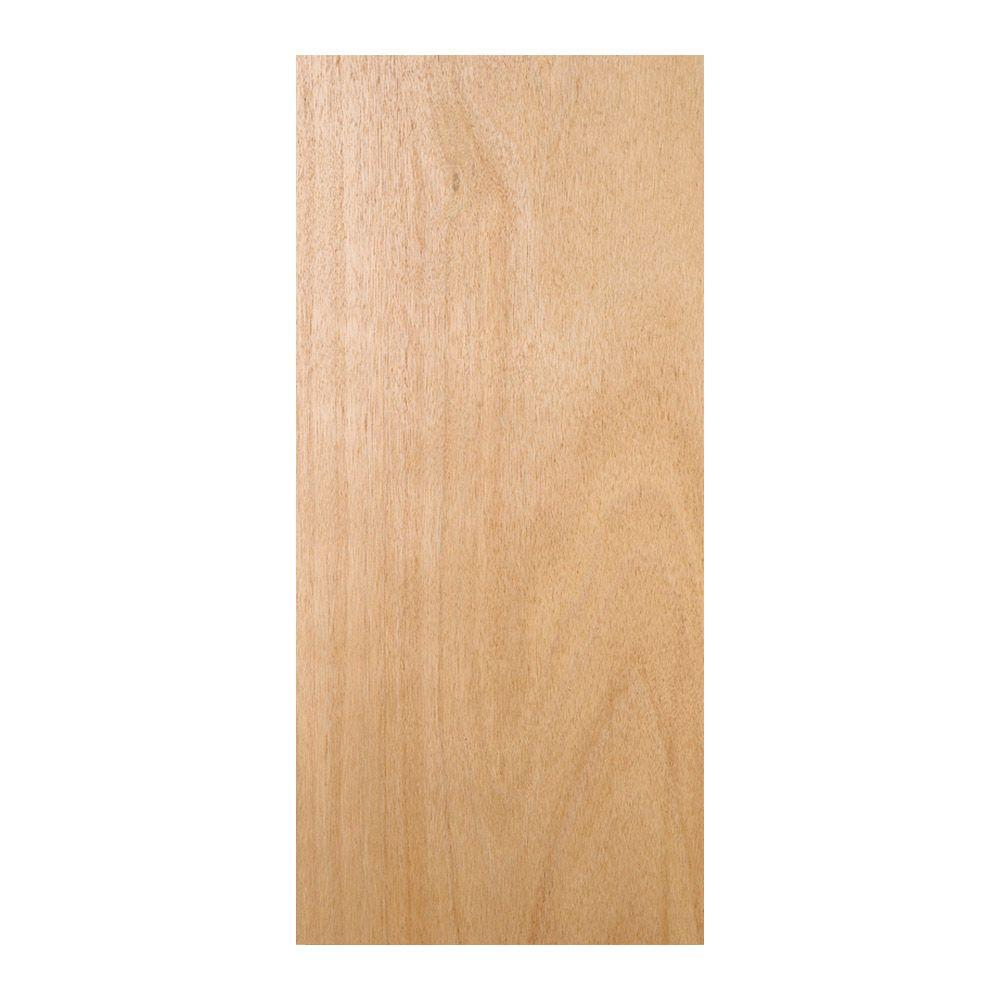 Unfinished Flush Solid Core Hardwood Interior Door Slab  sc 1 st  The Home Depot & JELD-WEN 30 in. x 80 in. Unfinished Flush Solid Core Hardwood ...