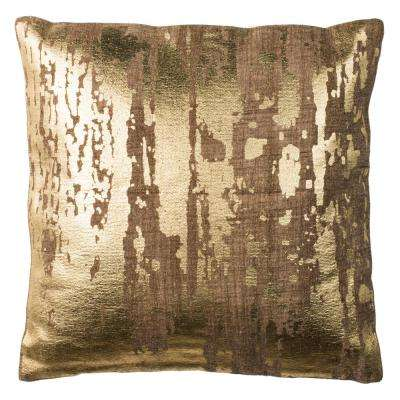 Metallic Splatter Printed Patterns Pillow