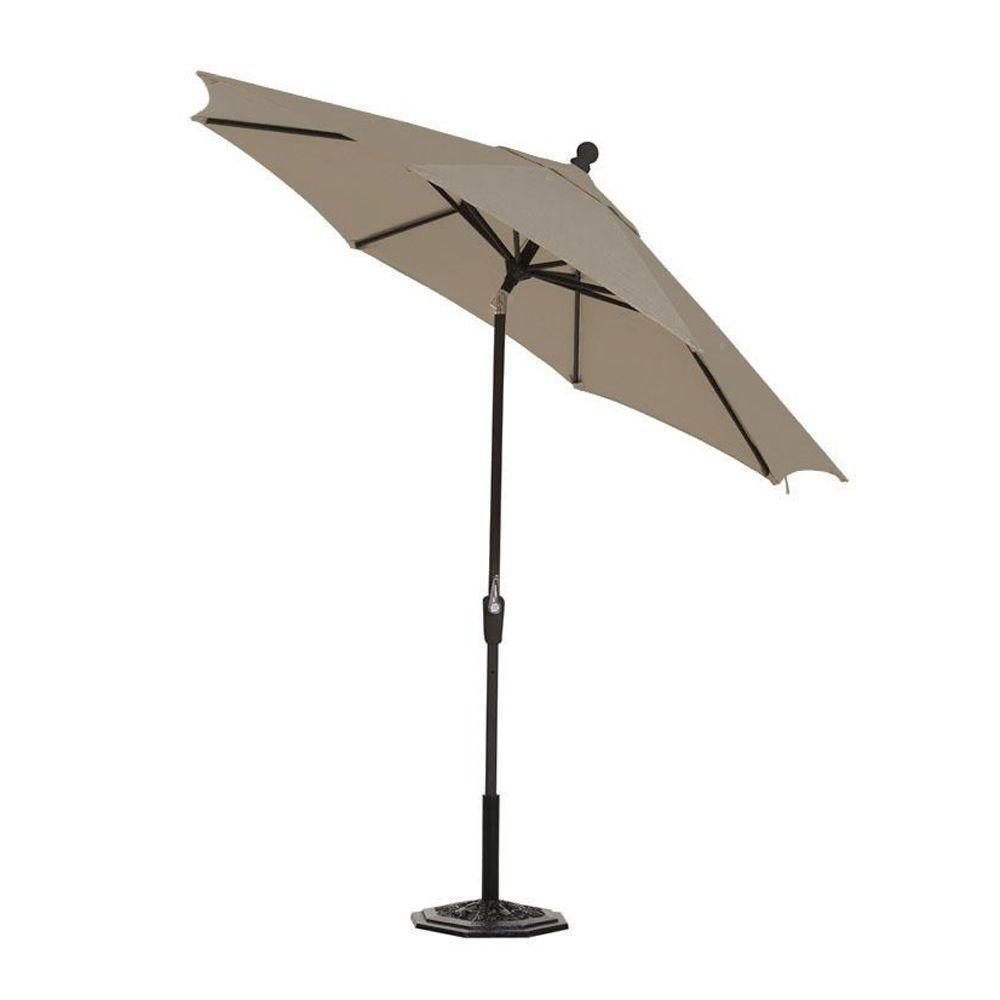 Home Decorators Collection Sunbrella 6 ft. Auto-Crank Tilt Patio Umbrella in Spectrum Graphite