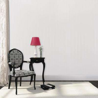 3/16 in. x 32 in. x 48 in. White True Bead Wainscot Panel