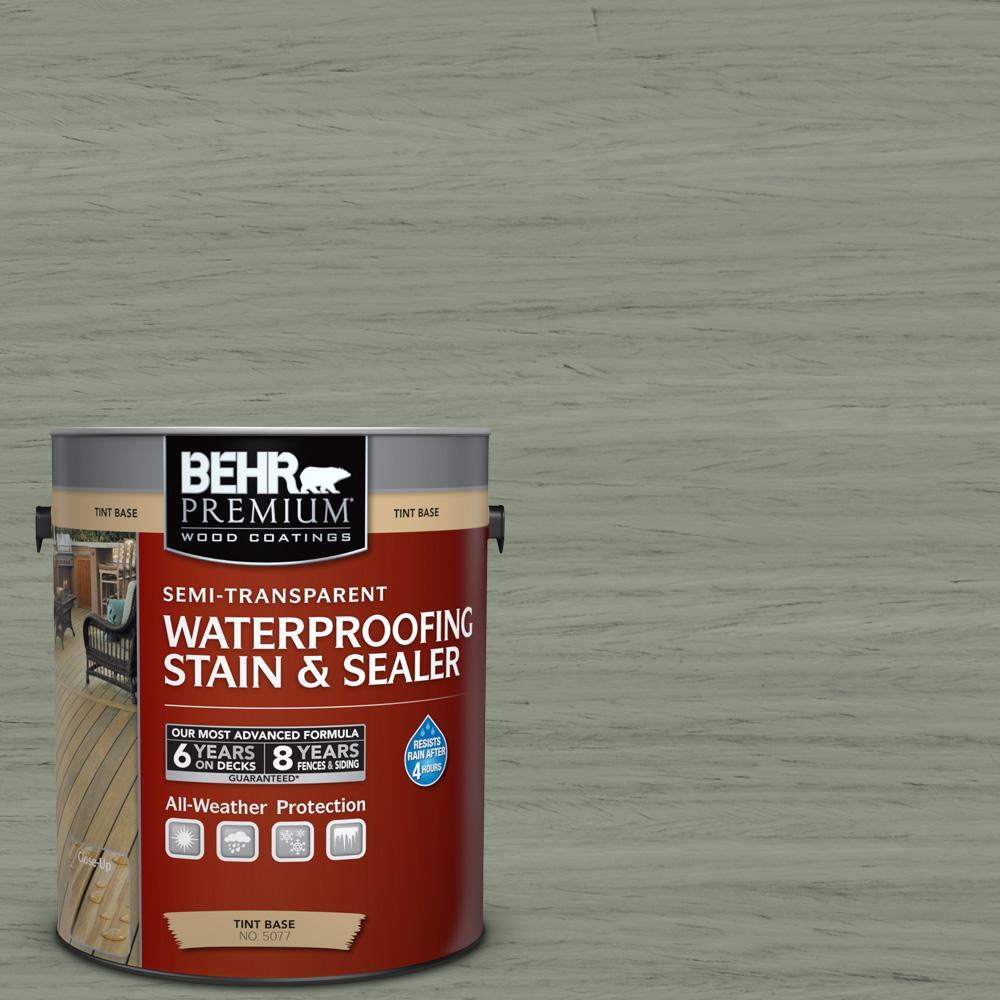 1 gal. #ST-143 Harbor Gray Semi-Transparent Waterproofing Exterior Wood Stain