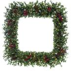 36 in. Wreath Arrangement with Pine Cones, Berries and Warm White LED Lights