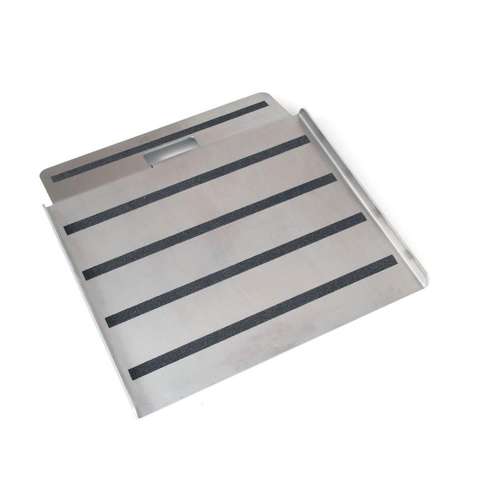Magliner 750 lb. Capacity 27 in. Aluminum Curb Ramp with Non-Skid Surface and Hand Cut-Out