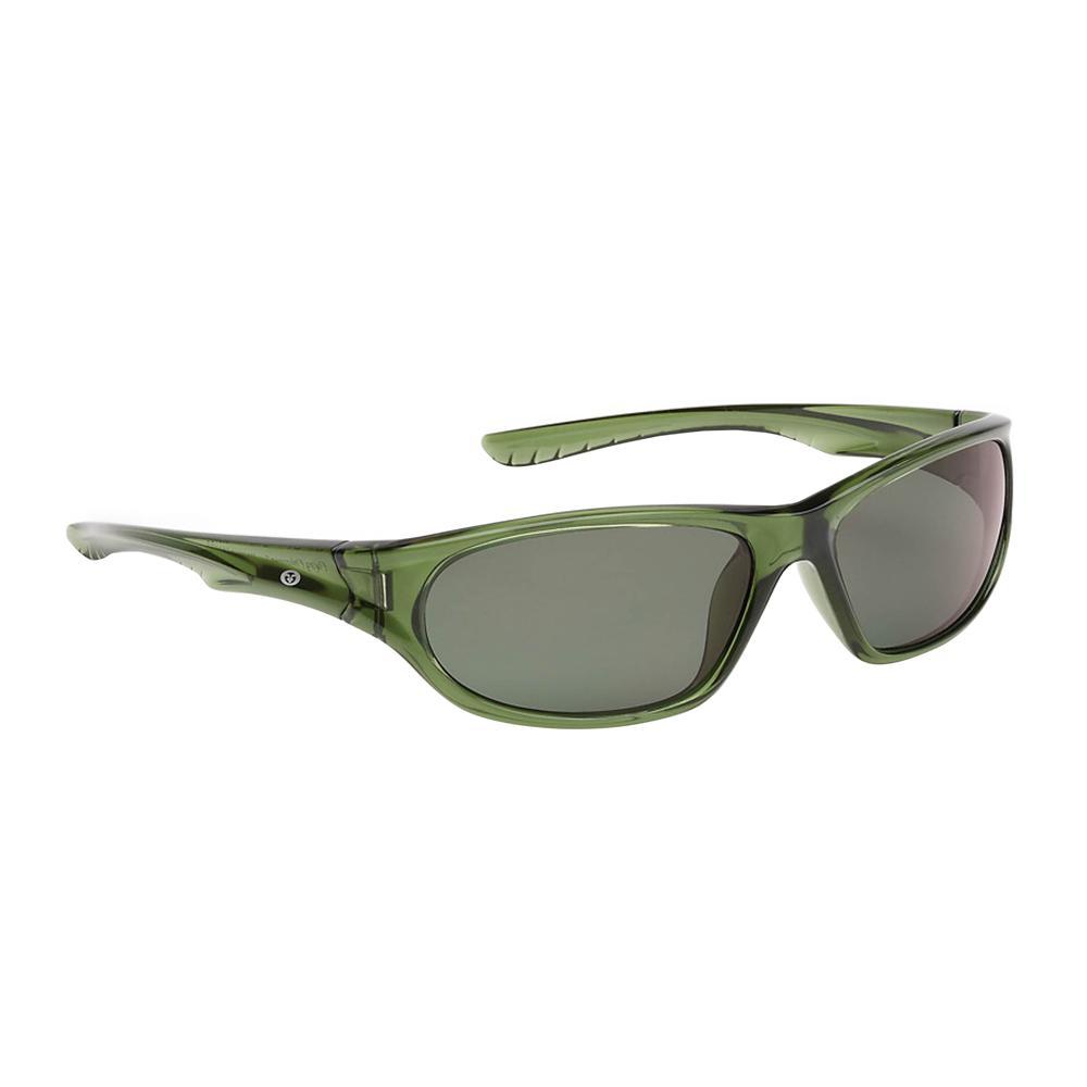 e7f1e9aa729 Flying Fisherman Remora Junior Angler Polarized Sunglasses Crystal Green  Frame with Smoke Lens