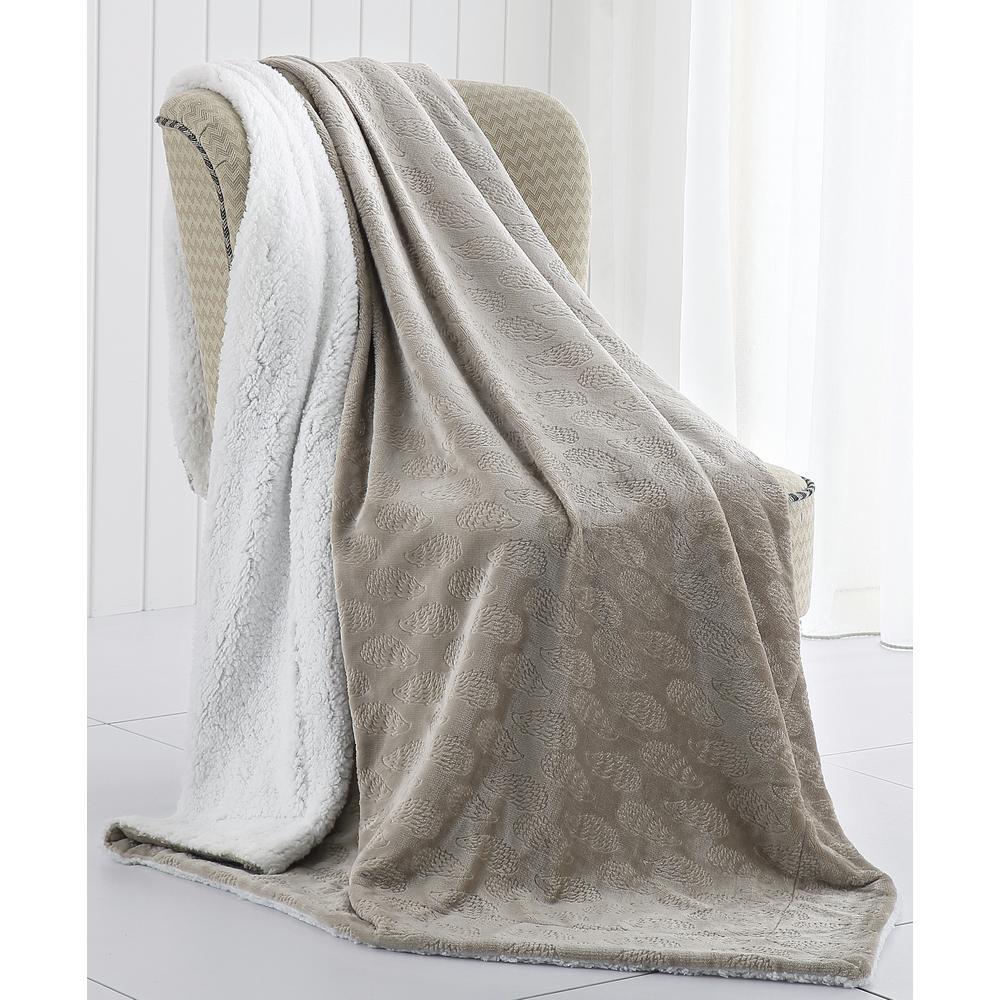 Morgan Home Harrold the Hedgehog Velvet Plush and Sherpa Throw Blanket