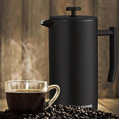 Belwares-34 oz. Black Stainless Steel French Press