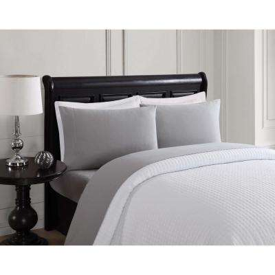 6-Piece Solid Color Ash King Sheet Set