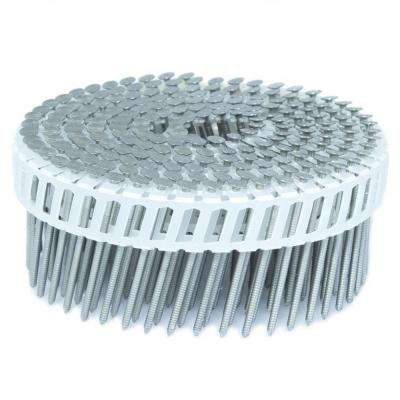 2 in. x 0.092 in. 15-Degree Ring Stainless Plastic Sheet Coil Siding Nail 800 per Box