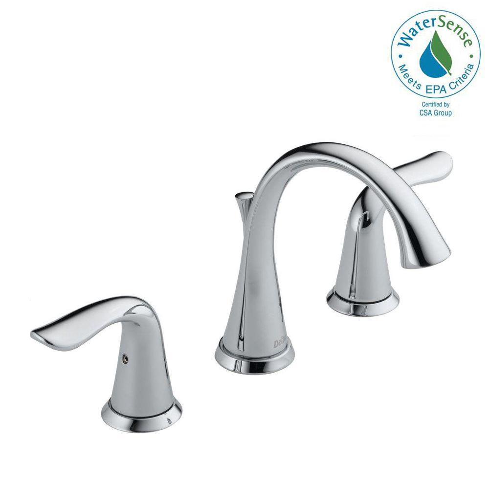 Delta Ara 8 in. Widespread 2-Handle Bathroom Faucet with Channel ...