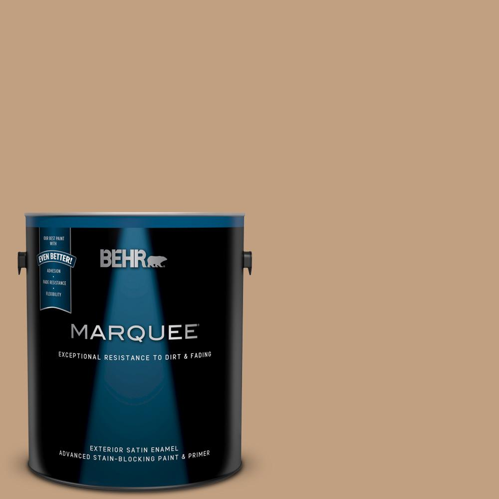 Behr Marquee 1 Gal Mq2 12 Milano Satin Enamel Exterior Paint And Primer In One 945401 The Home Depot