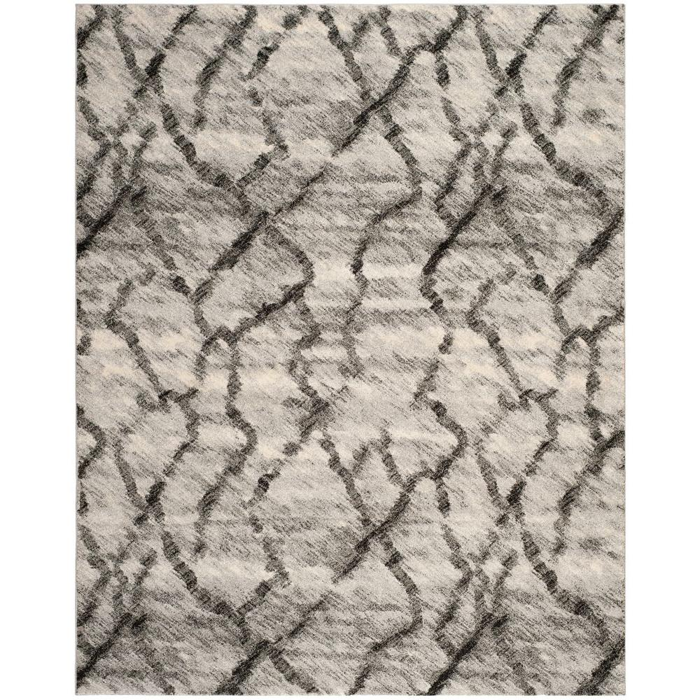 Safavieh Retro Light Grey/Black 5 ft. x 8 ft. Area Rug