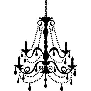 Roommates 36 in x 25 in chandelier with gems peel and stick giant internet 203301953 aloadofball Choice Image