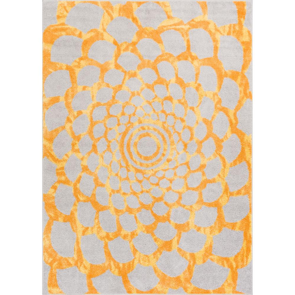 Well woven mystic grammercy yellow 8 ft x 10 ft abstract flower well woven mystic grammercy yellow 8 ft x 10 ft abstract flower modern area rug mc 161 7 the home depot mightylinksfo