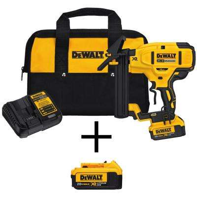 Dewalt flooring nailers nail guns pneumatic staple guns 20 volt max xr lithium ion cordless 18 gauge flooring stapler with bonus colourmoves
