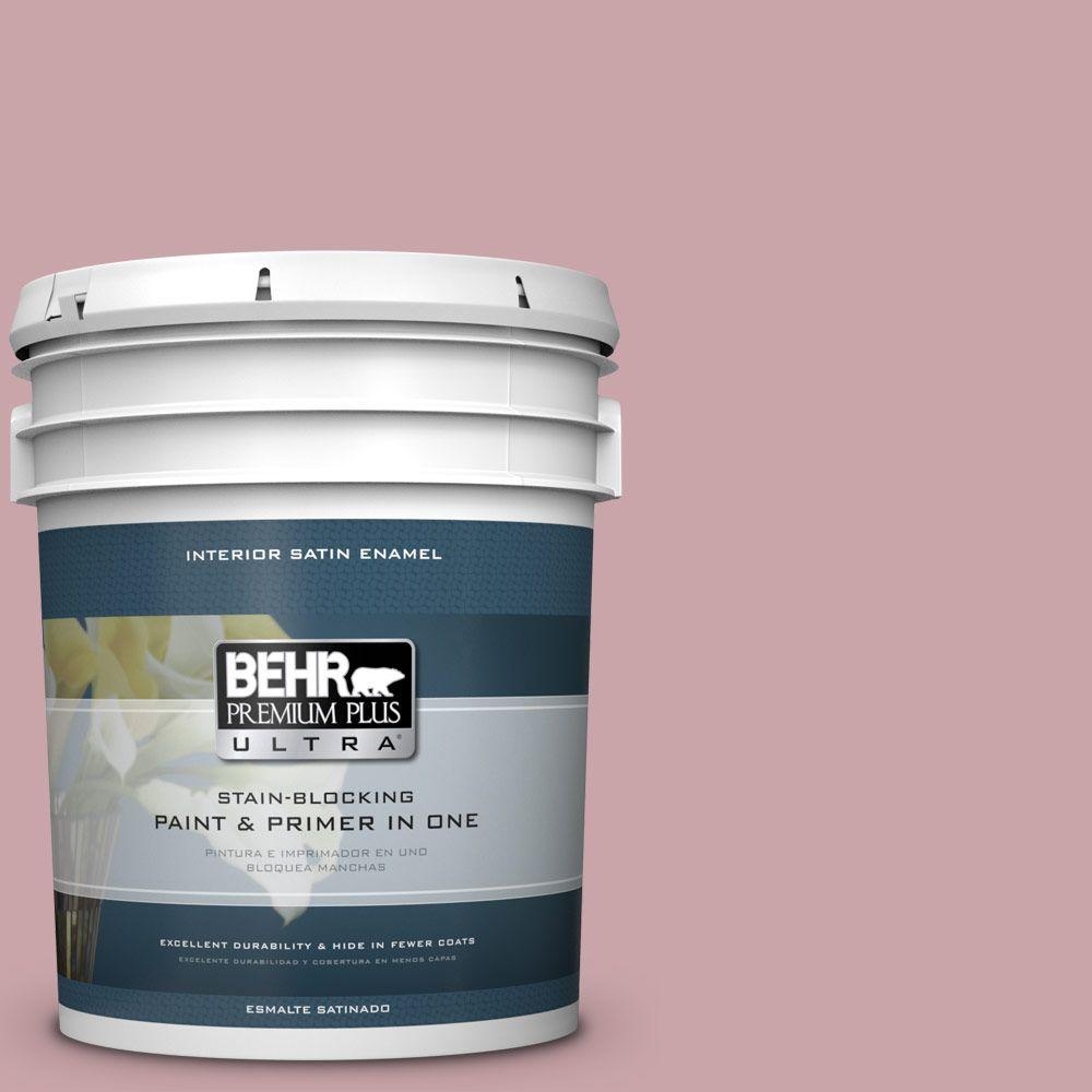5 gal. #HDC-CT-08A Hydrangea Bouquet Satin Enamel Interior Paint
