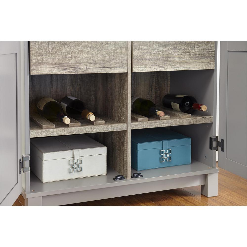 Viola 64 in. Gray/Sonoma Oak Storage Cabinet
