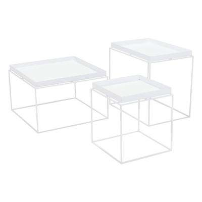 Gaia White Metal Outdoor Side Table