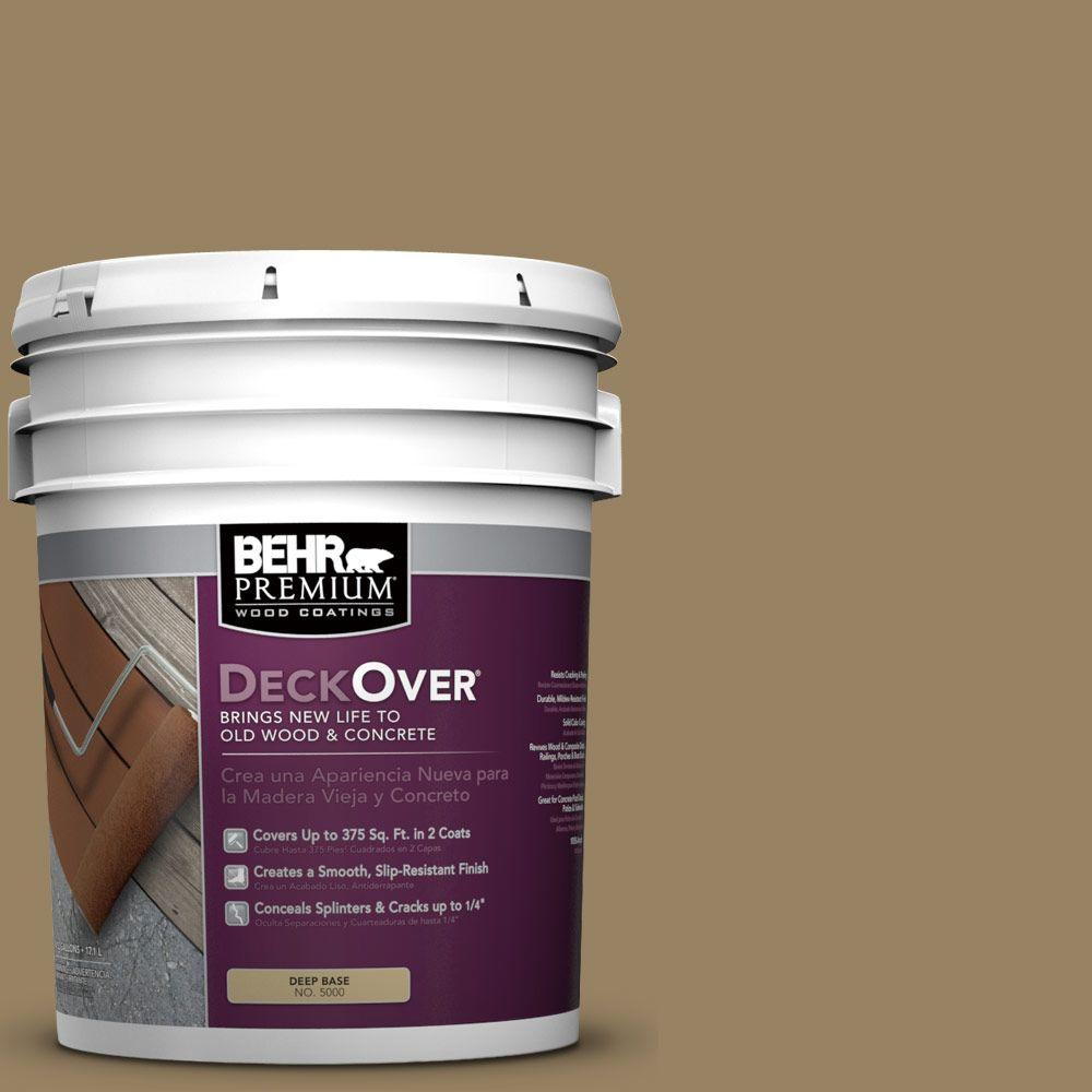 BEHR Premium DeckOver 5 gal. #SC-121 Sandal Wood and Concrete Coating