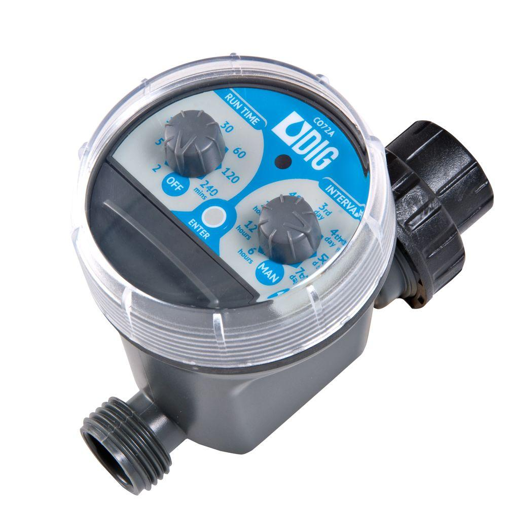 2 Dial Battery Operated Hose End Timer  sc 1 st  The Home Depot & Rain Bird Electronic Hose Timer-1ZEHTMR - The Home Depot