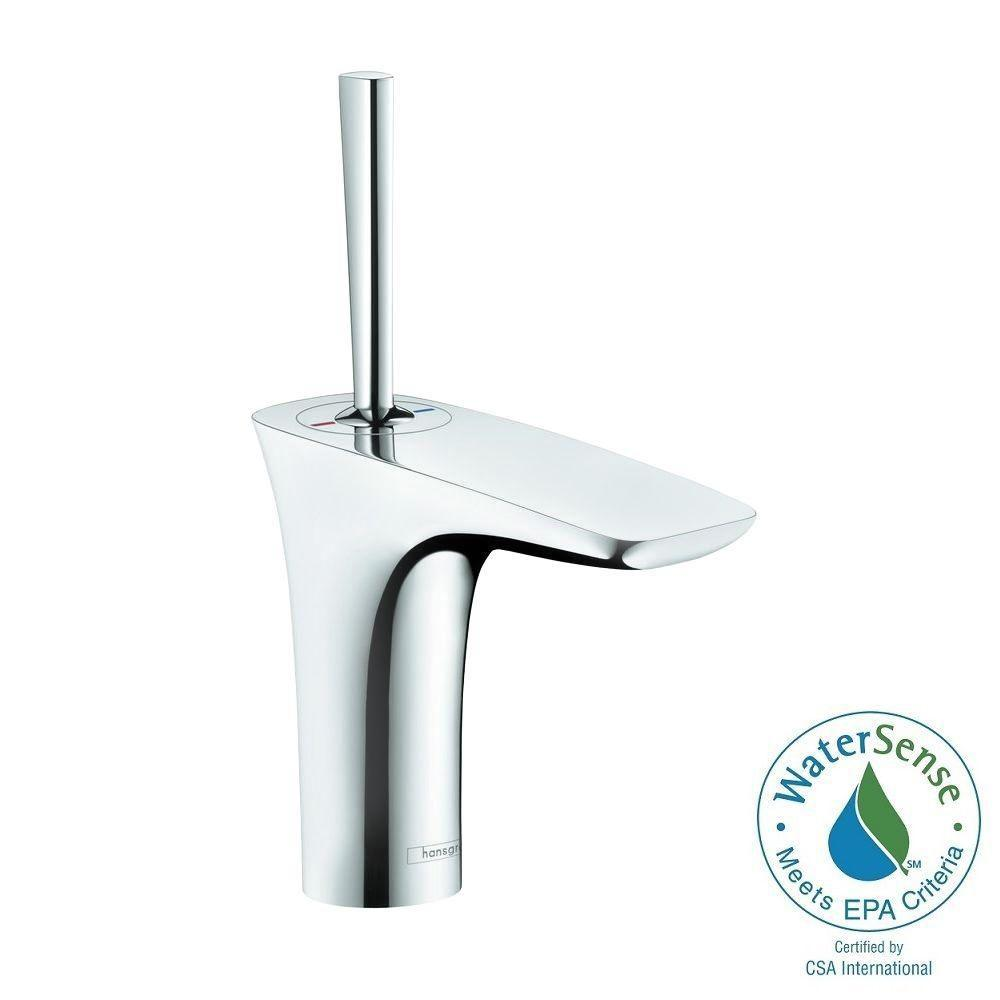 PuraVida Single Hole 1-Handle Mid-Arc Bathroom Faucet in Chrome