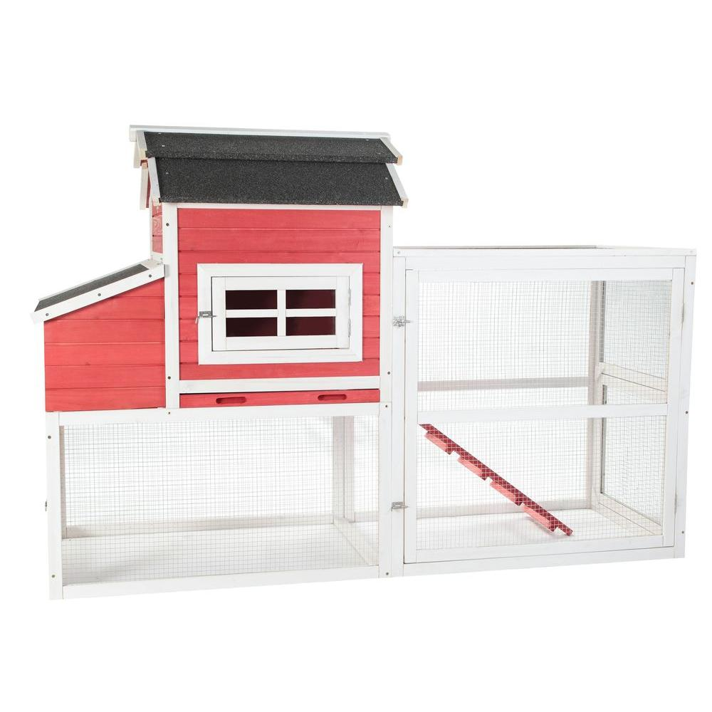 Vintage Red Barn Chicken Coop
