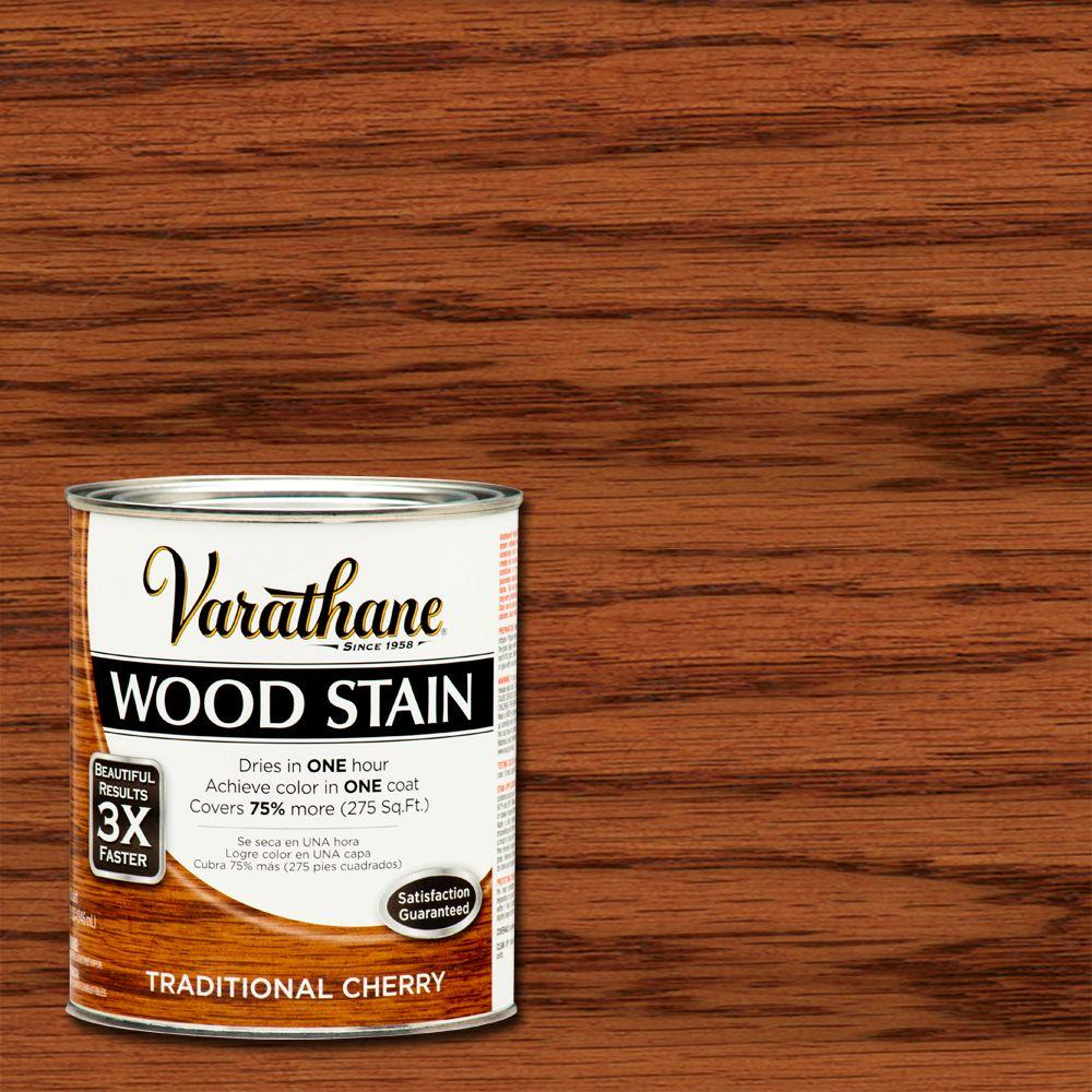 Varathane 1 qt. 3X Traditional Cherry Premium Wood Stain (Case of 2)