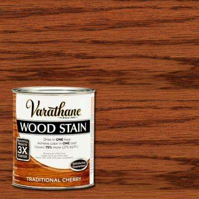 1 qt. 3X Traditional Cherry Premium Wood Stain (Case of 2)