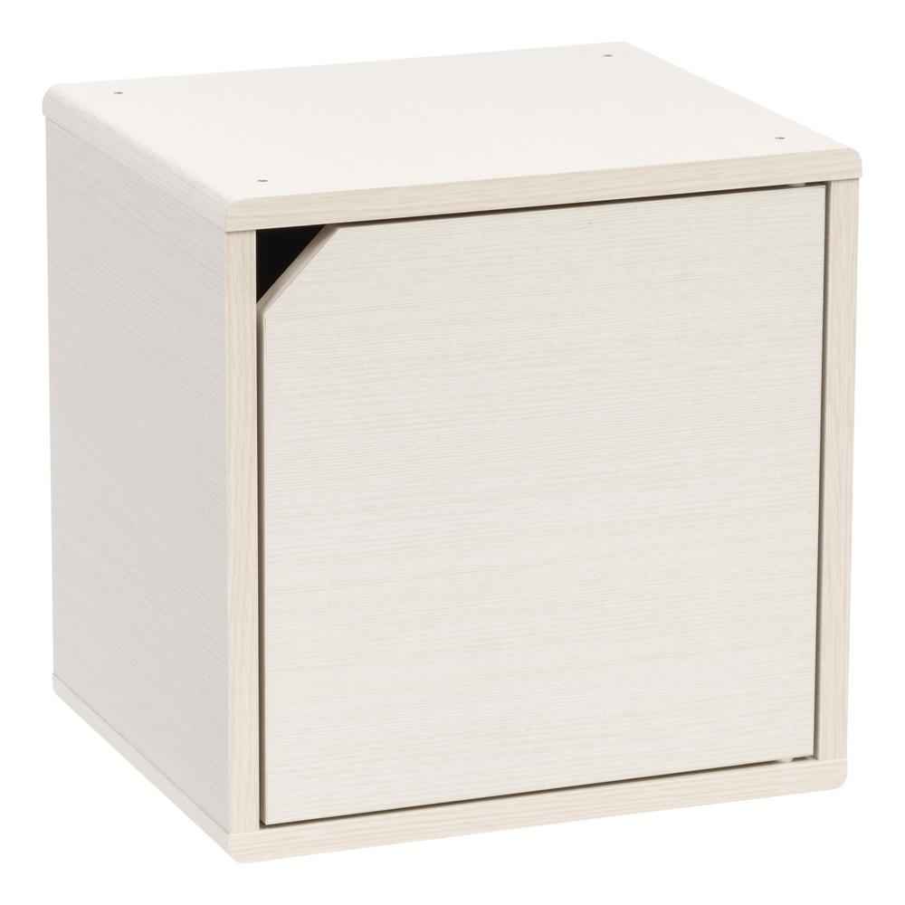 Kuda Series White Pine Wood Storage Cube with Door