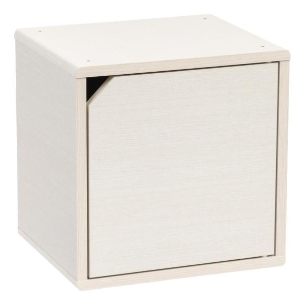 IRIS Kuda Series White Pine Wood Storage Cube with Door 596423