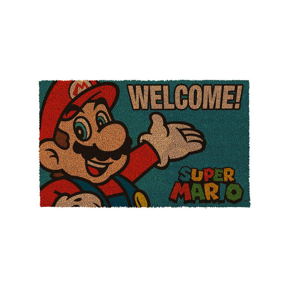 PyramidAmerica Super Mario Brothers - Mario Portrait 17 in. x 29 in. Door Mat