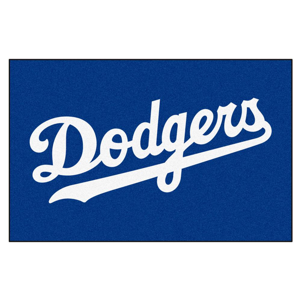 fanmats los angeles dodgers      accent rug   home depot